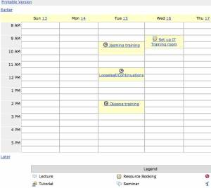 CamTools calendar screenshot