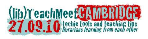 Cambridge Librarian TeachMeet logo